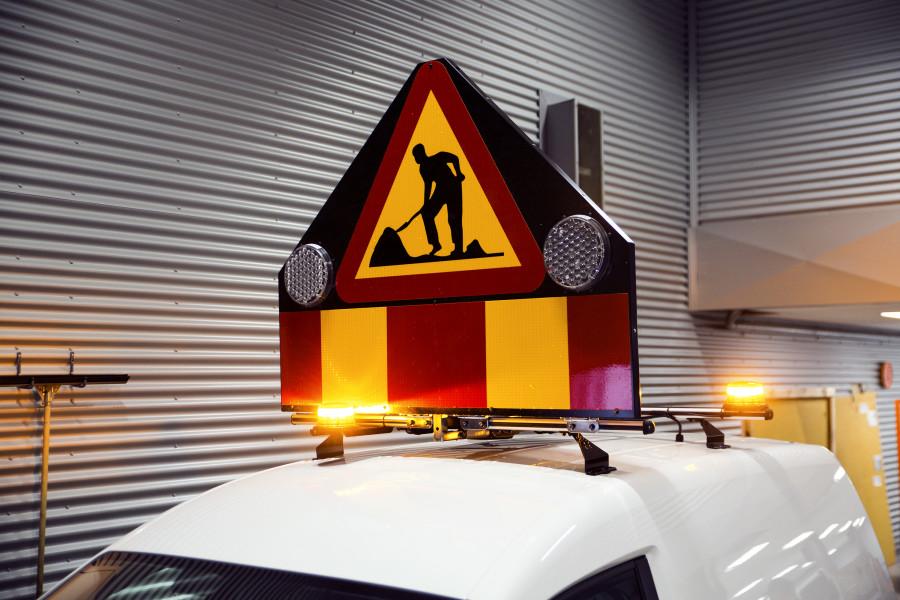 A20-skilte til vejarbejde